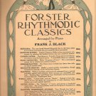Forster Rhythmodic Classics~piano~sheet music~Frank J Black~1924~FREE US SHIP