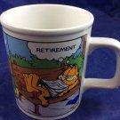 Garfield Retirement Career Change 10 Oz mug vintage 1978 Enesco