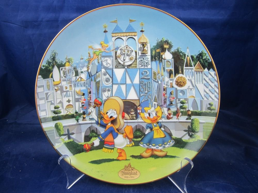 Disneyland 40th Anniversary Bradford Exchange Plate It's a Small World