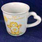 Vintage 1983 Care Bears Mug Funshine Bear Have A Cup O Sunshine