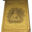1884 Ayer's American Almanac Dr JC Ayer Lowell MA Massachusetts antique ephemera