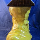 vintage Old Woman Who Lived in a Shoe ceramic cookie jar shaped like boot CJ 45