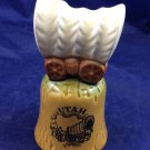 Vintage Utah UT Souvenir Ceramic Bell covered Wagon Pioneer Mormon Japan