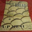 vintage A&P Menu~Bread~March 16 1936~supermarket~grocery store promo~freeUS ship