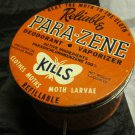 vintage advertising tin Reliable Para-Zene Moth Reliable Chemical Co Passaic NJ
