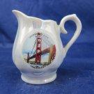 vintage Creamer Pitcher souvenir San Francisco Golden Gate Bridge lusterware