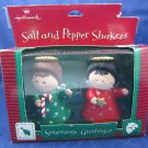 Vintage Hallmark Salt and Pepper Shakers Red & Green Angels in Box