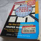Crossword Proper Name Finder by John C. Plankinton~Paperback reference book