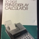 Vintage Sears 10 Digit Print Display Calculator Adding Machine Mint In Box 35813
