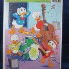 1983 Walt Disney Donald Duck Huey Dewey Louie Golden Frame Tray Puzzle Rock Band