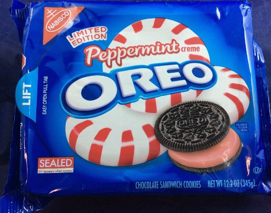 Limited Edition Peppermint Creme Oreo 12.2 Oz Oreos Cream Cookies Snack Nabisco