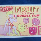 Vintage Mr. Hercules Fruit Flavored Bubble Gum Advertising Card Cramer Products