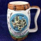 Vintage Plautco Inc Horse Mug Made In Japan Ceramic Cup Texas Good Luck Souvenir
