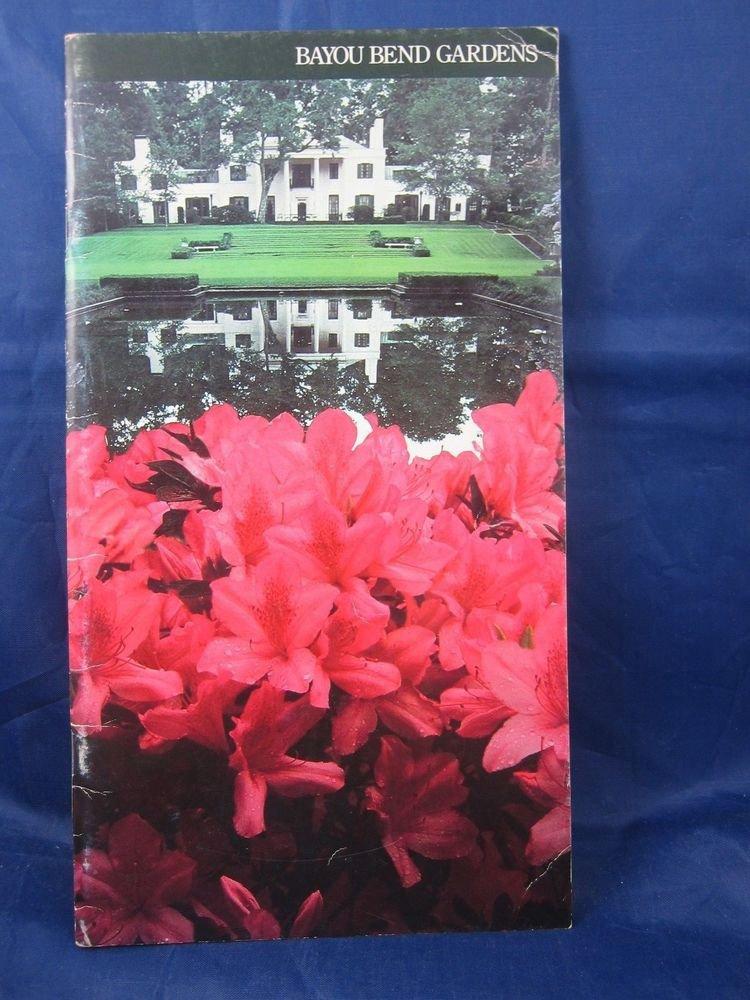 vintage Bayou Bend Gardens Guide Houston Texas Booklet 1975