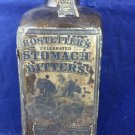 Antique Hostetter's Stomach Bitters Bottle Light Yellow Amber Revenue Label