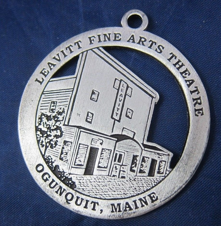 2005 Ogunquit Maine Leavitt Fine Arts Theatre ornament Christmas By the Sea