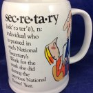 Vintage 1986 Secretary Mug Beard McKie Well Defined Giftware Enesco Funny Humor