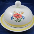 Vintage Arabia Made in Finland Cheese Butter dish ARA55 windflower flower motif