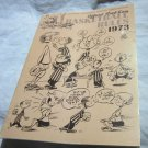 1973 NCAA Official Read East Basketball Rules~cartoon sketches~Jim Enright~Walt