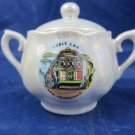 Vintage Lustreware Souvenir Sugar Bowl San Francisco Lusterware Luster ware