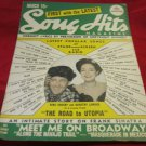 March 1946 Song Hits magazine with Bing Crosby & Dorothy Lamour on cover~Sinatra