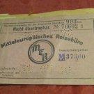 antique 1931 German train ticket~Mitteleuropaisches Reisebro MER from Germany