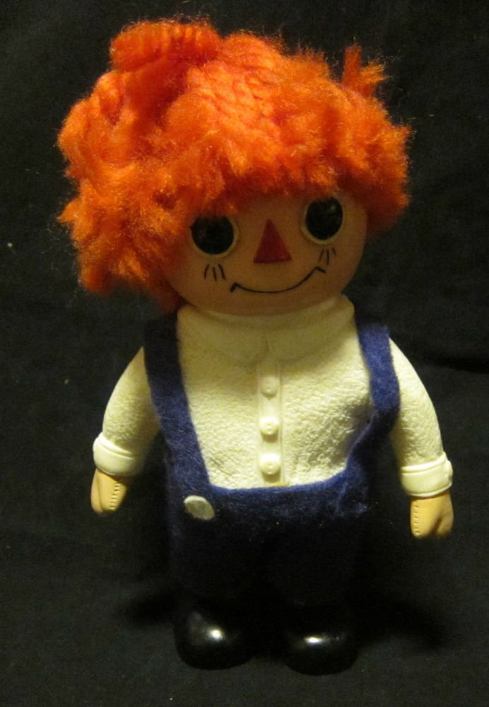 RAGGEDY ANDY BANK~1974~Creative Vinyl Products~Royalty Industries~FREE US SHIP