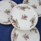 4 Butter plates Rosenthal Germany Pompadour Moss Rose Moliere Ivory