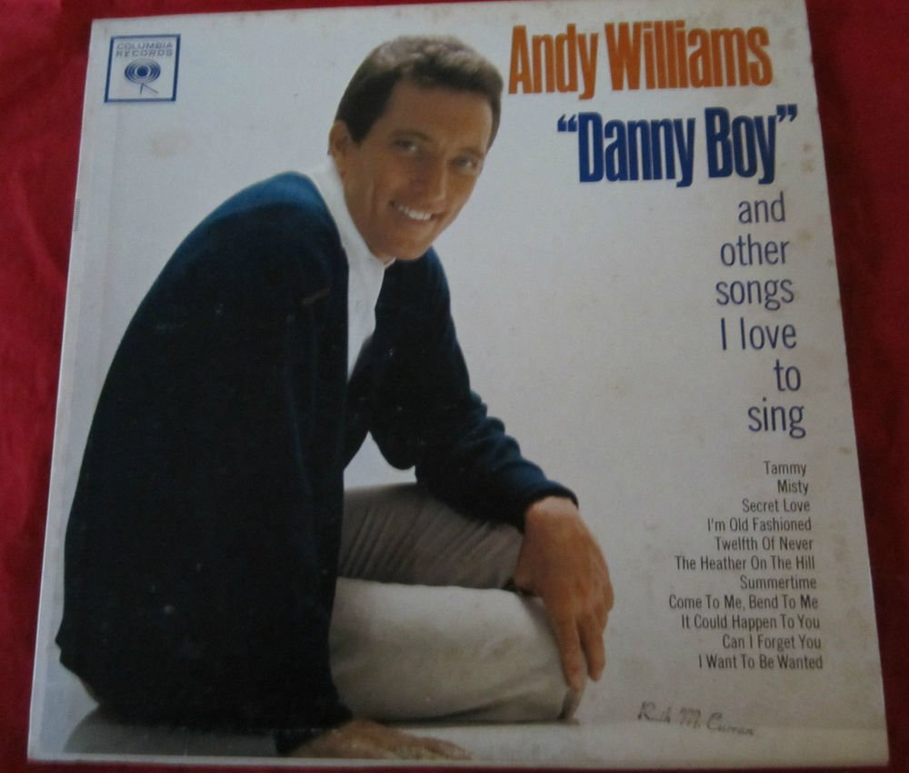 Danny Boy by Andy Williams LP/vinyl/record~FREE US SHIP