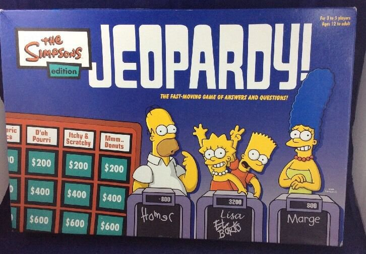 The Simpsons Edition Jeopardy Board Game 5455 2003 Pressman Toy