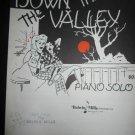 Down in the Valley sheet music~Kentucky Mountain Song~John W. Schaum arrangement