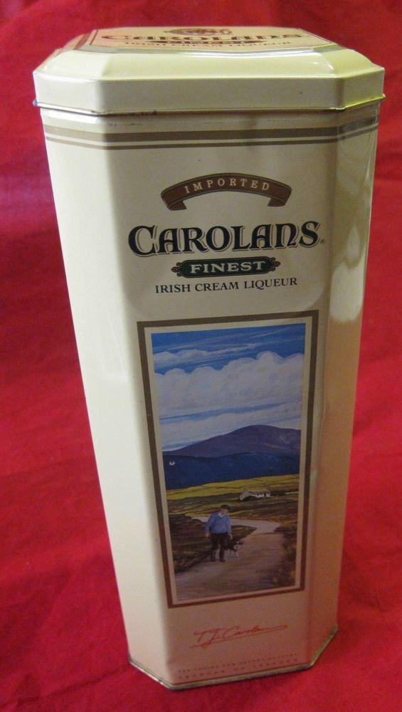 Carolans Irish Cream Liqueur tin with drink recipe card~Ireland~FREE US SHIP