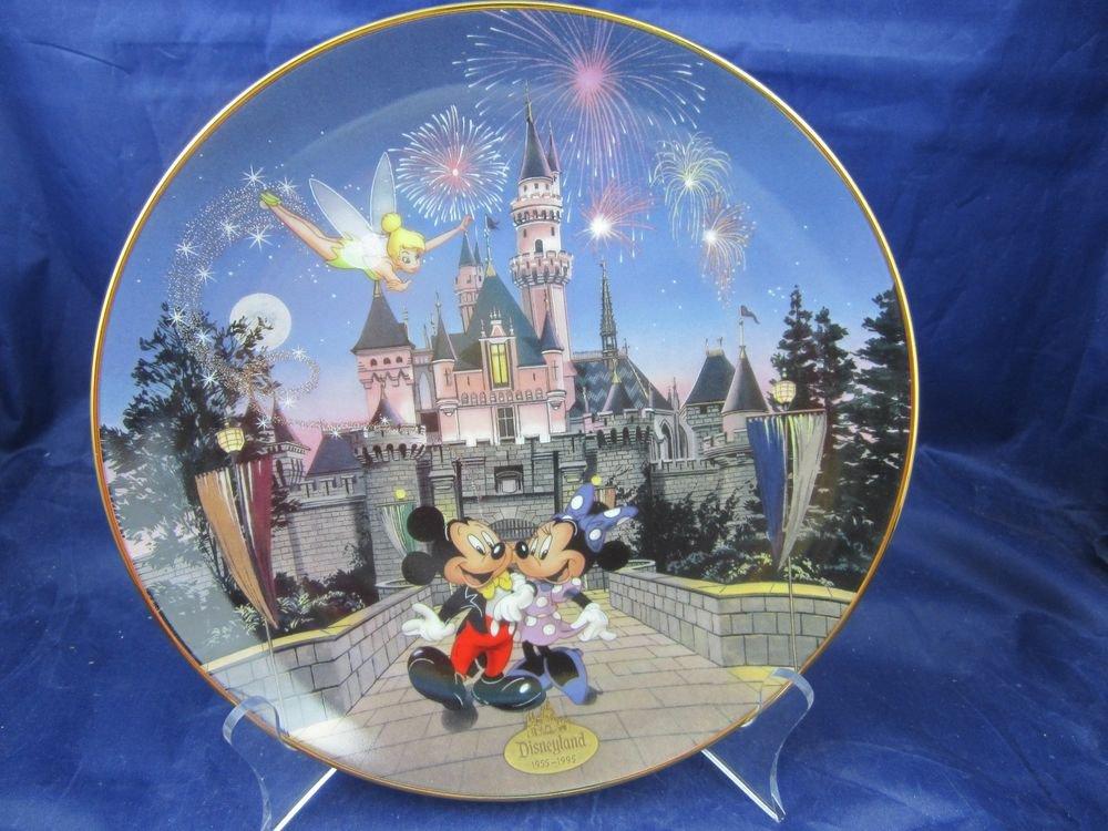 Disneyland 40th Anniversary Bradford Exchange Plate Sleeping Beauty Castle
