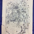 Ulf Wahlberg Sketch Drawing 1967 Los Angeles Signed Dated Swedish Artist