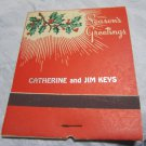 Giant Feature MATCHBOOK~Christmas card match book~FREE US SHIPPING