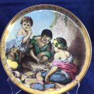 """JKW Western Germany 1930 7.75"""" Plate Dish Children Playing Dice"""