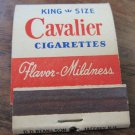 Cavalier Cigarettes Matchbook~ matches~tobacco FRONT STRIKE match book