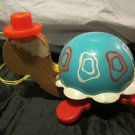 Fisher Price toy~Tip Toe Turtle pull-toy~773~1962~FREE US SHIPPING
