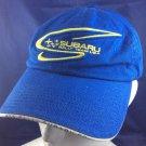 Subaru Rally Team USA Baseball Cap Hat Blue Yellow
