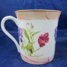 Irish Garden Porcelain mug cup by Sigma with purple and pink flowers