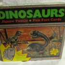 Dinosaurs Jigsaw Puzzle & Fun Fact Cards by Shanin~dinosaur educational game