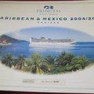 Princess Cruises Caribbean & Mexico 2004-2005 catalog~cruise line catalogue