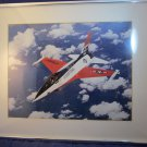 US Air Force F-16 USAF jet plane photograph photo framed picture