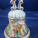 Capodimonte bell with cherub cupids neoclassical bas-relief nude