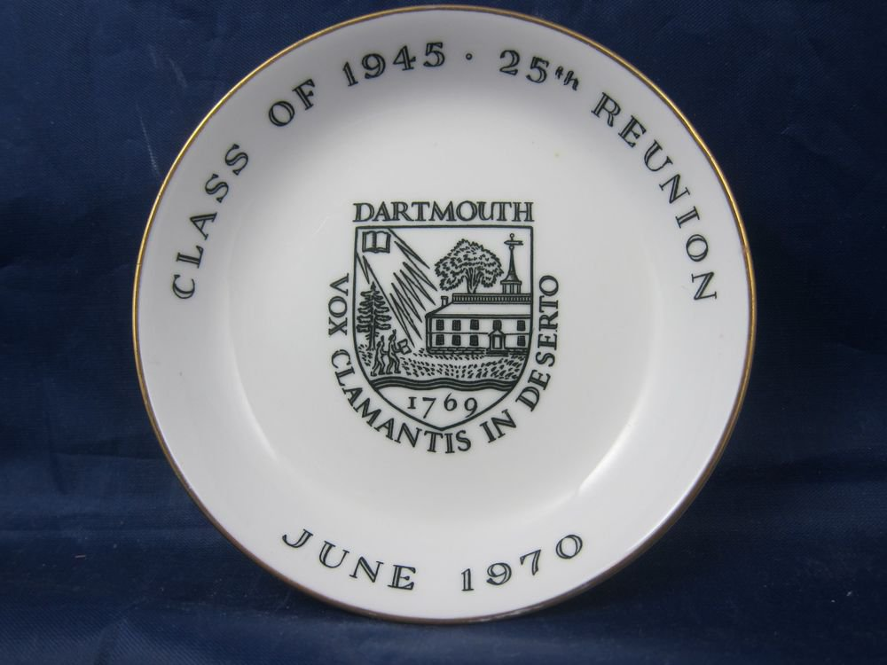 Darthmouth College Class 1945 25th Reunion dish Royal Worcester Fine Bone China