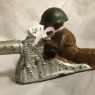 B206 Barclay Toy Soldier~Prone Machine Gunner~FREE US SHIPPING