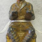 B151A Barclay Toy Soldier~sitting soldier~typist~no typewriter~FREE US SHIP