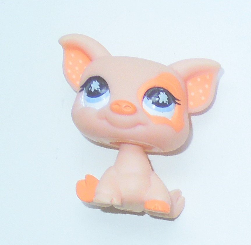 2008 Hasbro Littlest Pet Shop LPS #885 Peach Barnyard Piglet