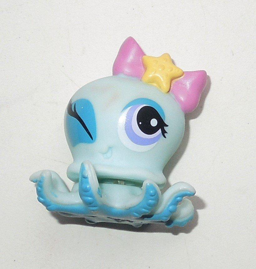 2010 Hasbro Littlest Pet Shop LPS #1346 Blue Octopus Winking Eye