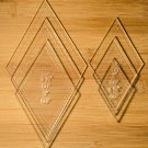 "1/8"" Clear Acrylic Laser Cut Quilting Templates 60 Degree Diamond set"